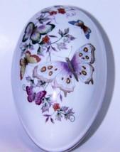 1974 Vintage AVON  Butterfly Porcelain Egg Trin... - $11.87