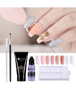 Quick Extension Poly Building Gel Slip Solution False Nail Tips Brush Cl... - $18.04