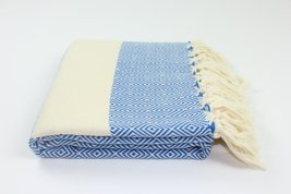 Authentic Turkish Diamond Fouta Cotton Towel Peshtemal Made In Turkey 100% Turki - $15.04