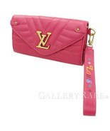 LOUIS VUITTON New Wave Long Wallet Smooth Calf Leather M63820 Authentic ... - $991.23