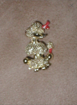 Vintage 1950's French Poodle Dog Brooch Pin - $16.34