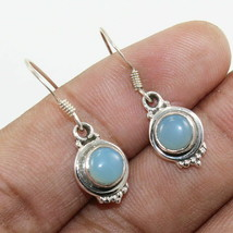 """CHALCEDONY Pure 925 Solid Sterling Silver Jewelry EARRING Size 1"""" RK1392 - $31.06"""