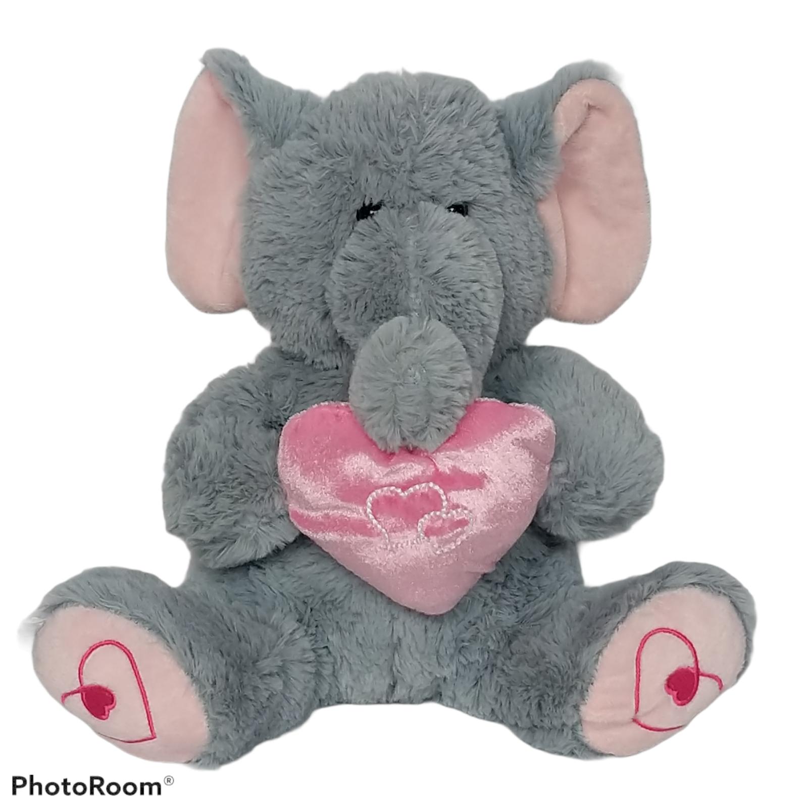 "Best Made Toys Valentines Elephant Holding Heart Plush 2014 13.25"" - $24.75"
