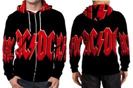 AC DC logo wallpapper image Hoodie Zipper Fullprint Men - $46.80