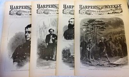 4 Issues February 7 14 21 28 1863 Harpers Weekly ReIssued Historic Newspapers