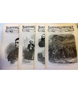 4 Issues February 7 14 21 28 1863 Harpers Weekly ReIssued Historic Newsp... - $14.99