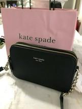 Kate Spade Cameron Street Small Double Zip Phone Crossbody Bag Black Msr... - $69.29