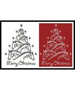Horse Christmas Tree #13433 cross stitch chart Artecy Cross Stitch Chart - $7.20