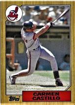 1987 Topps Baseball Card, #513, Carmen Castillo, Cleveland Indians - $0.99