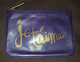 Rebecca Minkoff Concord purple leather Je T'Aime French Cory pouch NWT - $39.99