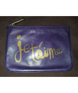 Rebecca Minkoff Concord purple leather Je T'Aime French Cory pouch NWT - $45.00