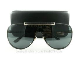 Versace Sunglasses VE2140 Gold Black 1002/87 Authentic New - $239.00