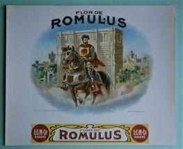 """FLOR DE ROMULUS"" Inner Lid Cigar Box Label, form early 1900's or earlier - $20.00"