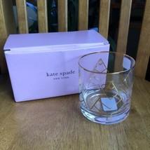 Kate Spade Ny Lenox Spruce Way 12 Oz Double Old Fashion Glasses Nwt Set Of 2 - $34.65