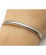 925 Sterling Silver - Vintage Minimalist Thin Cuff Bracelet - B3645 - $49.57