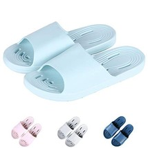 Giway Blue Womens Bathroom Shower Sandal Quick Dry EVA Bath Slippers Hou... - $10.06