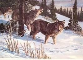 TIMBER WOLF Tom Beecham Remington Wildlife Art Collection Print - $29.67