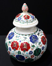 Marble Inlay Flower Pot Flower Vase for Home and Office Decor, Antique a... - $465.00