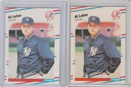 1988 Fleer Update #U-49 Al Leiter  RC Matte and Glossy Version - $1.09
