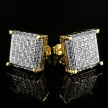 18k gold iced out lab simulated diamond stud thumb200