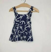 Ralph Lauren Blue Chain Print Cotton Nautical Sailor  Summer Dress Age 3... - $16.10