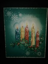 Colorful Candles Vintage Christmas Card - $4.00