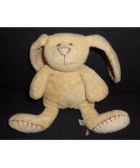 PBK Pottery Barn Kids Bunny Rabbit Yellow Brown Stitches Plush Stuffed A... - $13.72