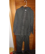 Woman's slate gray plus size 2x hooded jacket and pants by Only Necessities - $23.50