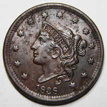 1838 Large Cent Liberty Coronet Head Coin Lot # A 2112
