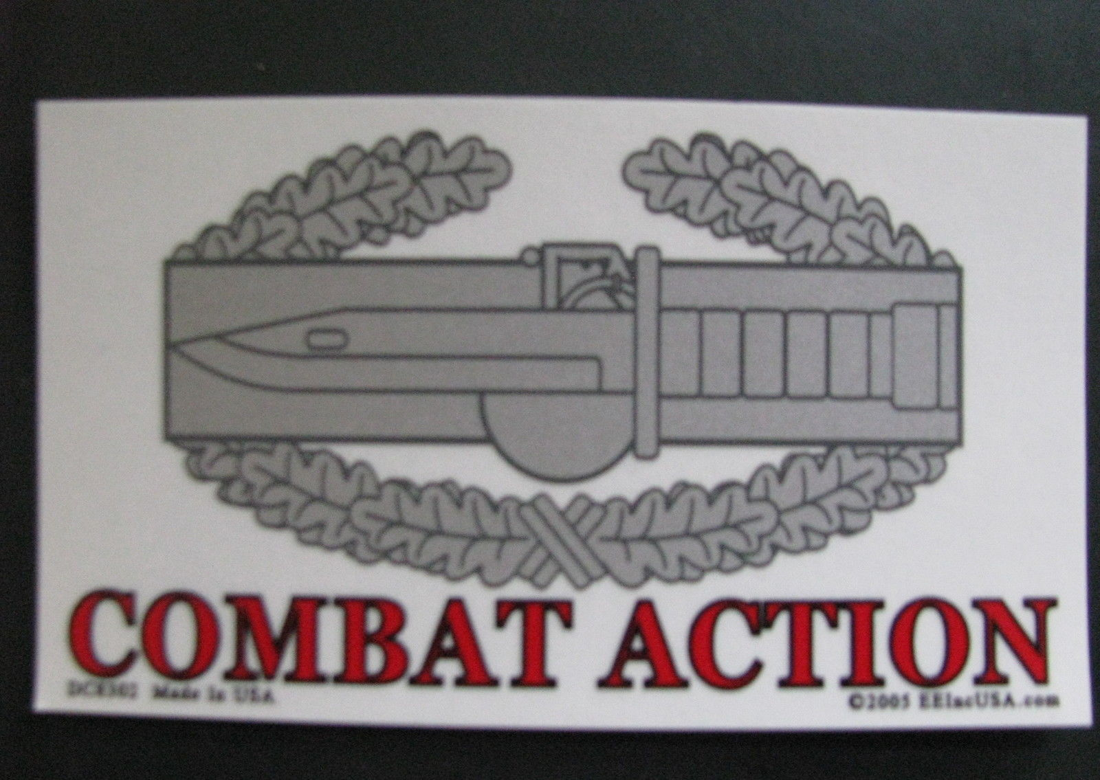 Bumper Sticker 2.75X4.75  COMBAT ACTION decal army marine navy air force