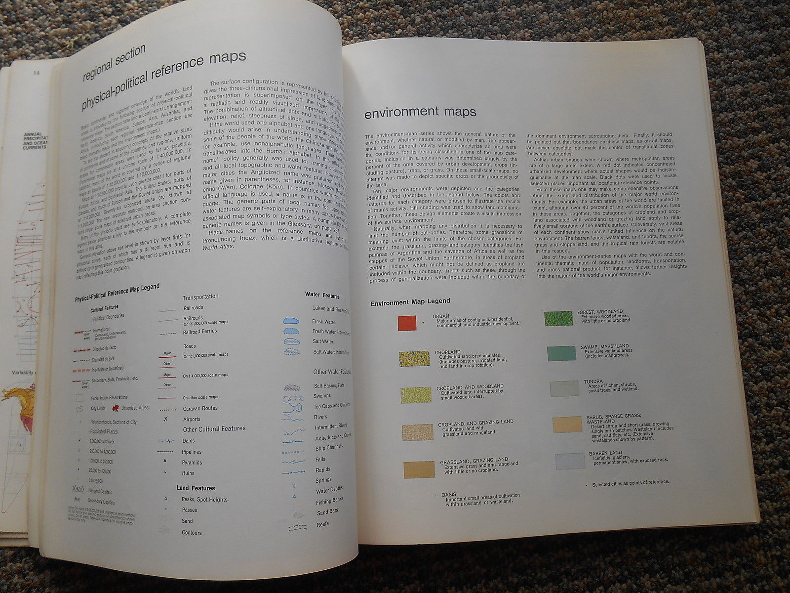 Vintage 1983 Goode's World Atlas 16th Edition Maps Rand McNally Edward Joel Book
