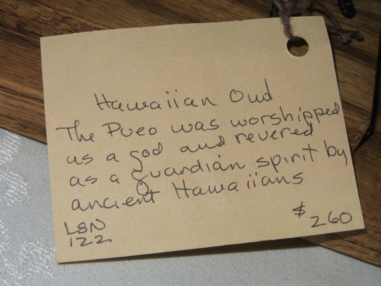 Hawaiian Pueo Owl Sculpture Figurine Handwoven Fabric Yarn Fiber Art Spitz-Nagel image 5