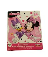 """New Disney Minnie Mouse & Daisy Bow Shaped 48 piece Puzzle 9x10"""" - $5.34"""