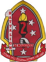 USMC 1st Bn 2nd Marines Patch and 4'' Sticker - $19.79