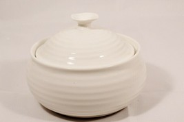 Portmeirion Sophie Conran White Ribbed Small Round Covered Pot Casserole  - $31.92