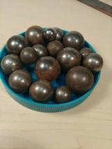 Lot of 17 STEELIE marbles - $15.00