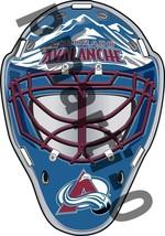 Colorado Avalanche Front Goalie Mask Vinyl Decal / Sticker 5 Sizes!!! - $3.99+