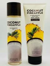 Bath & Body Works Coconut Pineapple Fine Fragrance Mist Spray & Body Cream Set - $27.67
