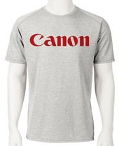 Cannon Dri Fit graphic Tshirt moisture wicking retro camera SPF active wear tee image 1