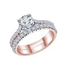 Womens Engagement Bridal Ring Set 14k Rose Gold Finish 925 Sterling Solid Silver - $86.99