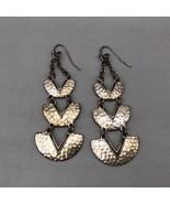 Vintage Silver Tone Dangle Pierced Earrings - $12.86