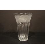 Savoir Vivre Made in Japan Crystal Vase Frosted ~Embossed - $12.99