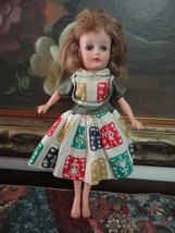 Antique 1950s Uneeda Suzette Rubber Doll 10 inch Marked Fully Jointed - $94.64