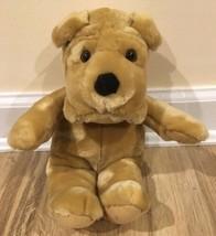 Carlton Cards Dog Stuffed Animal Plush Toy Tan Brown Beige - $9.99