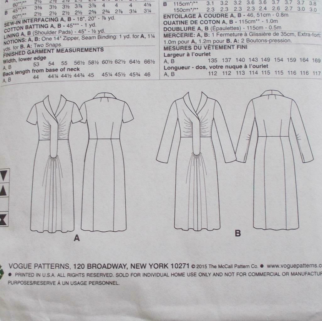 Vogue V9126 Vintage Model Dress Pattern 1947 Design Size A5 6-14 image 8