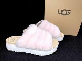 UGG Australia Fluff Yeah Sandal Slides Seashell Pink 1098681 Platform Sa... - ₹6,386.03 INR