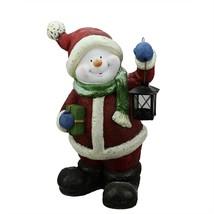"Northlight 19"" Festive Glitter Snowman Lantern Christmas Table Decor - $43.30"