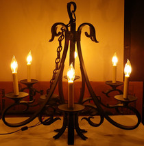 World Imports Hand-forged Iron Brantome Collection Rust 6 Light Chandelier - $175.00