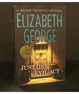 Signed Copy New Hdcvr Just One Evil Act by Elizabeth George - $14.00