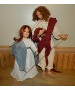 "Vintage Set Titus Tomescu 21"" Jesus #5590FA Geppeddo 17"" Mary Figurines  - $68.58"